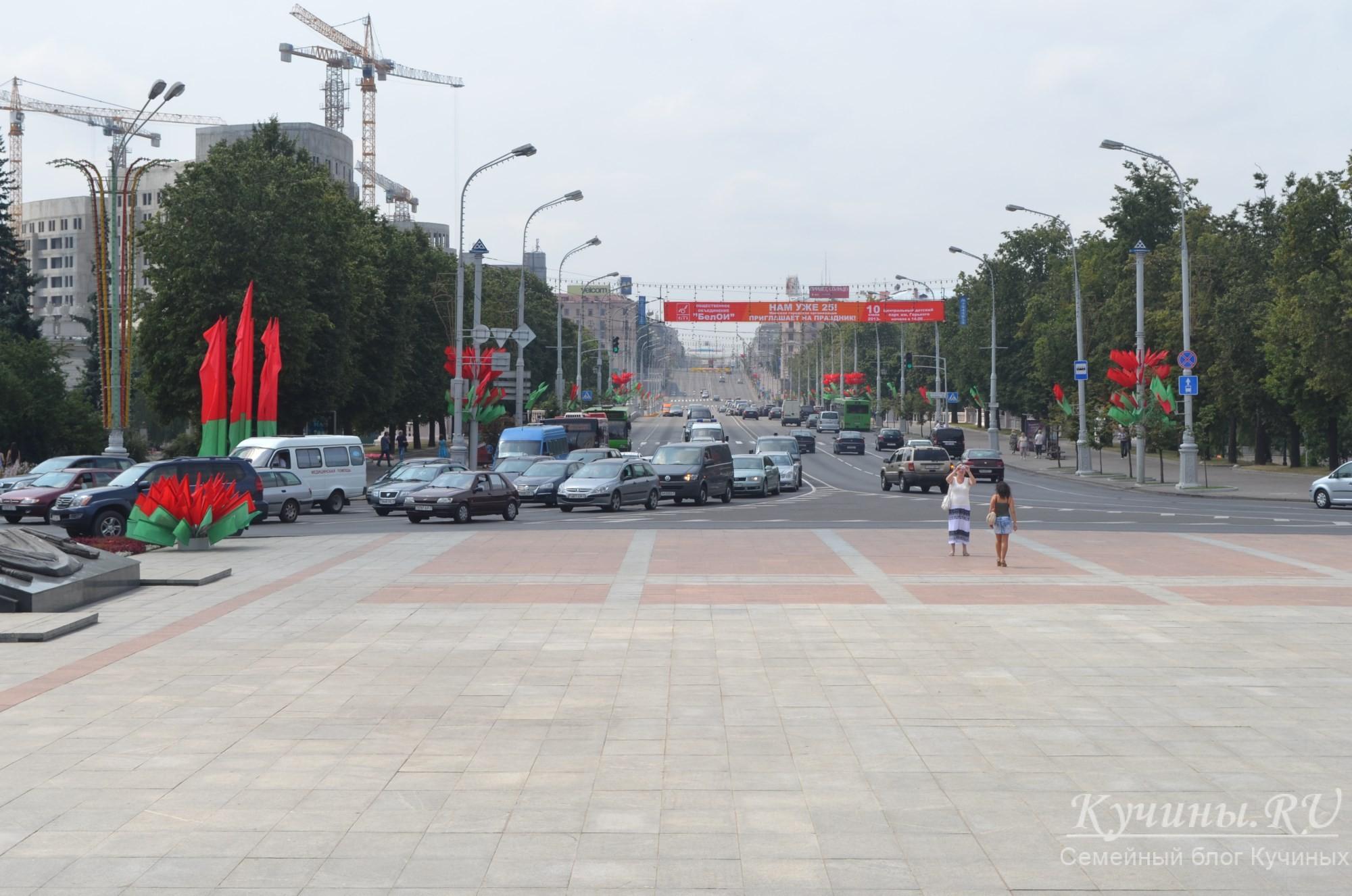 Центральный проспект Минска, вторник, 13.50 местного времени