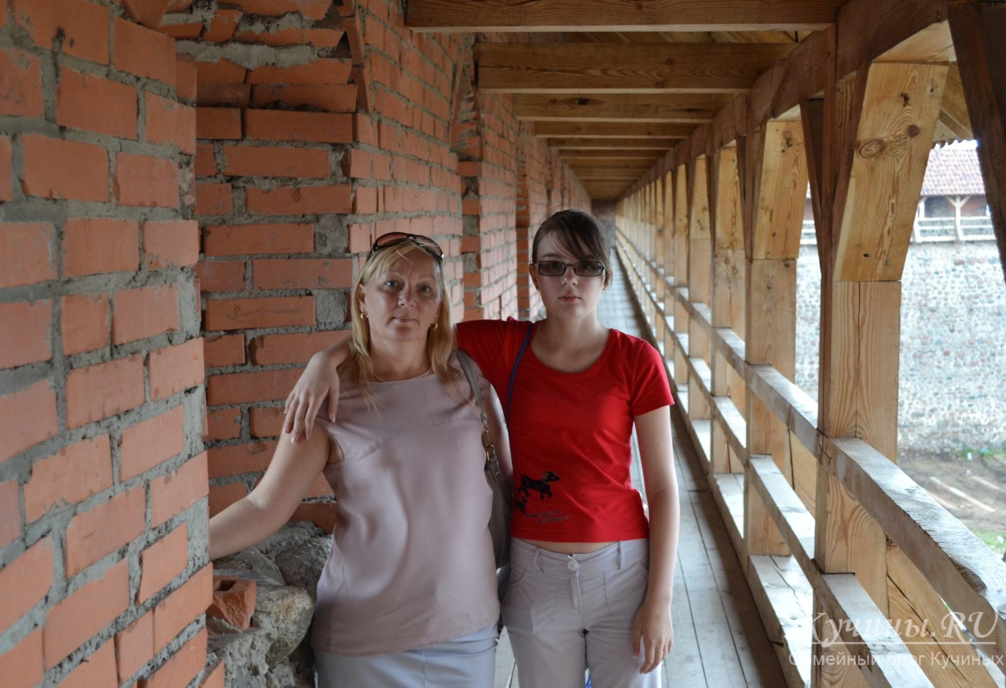 На стене замка