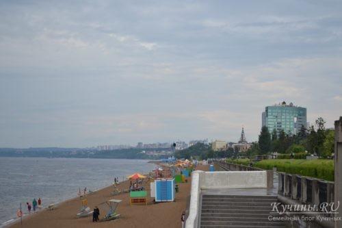 Набережная Волги, пляж